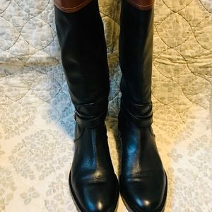 COACH Elm Riding Winter Fall Leather Winter boots